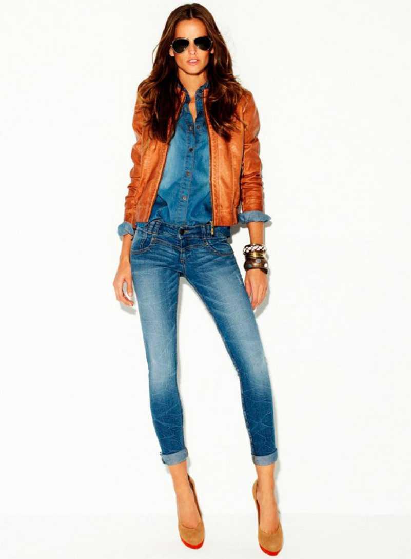 Фото образов девушек в джинсах